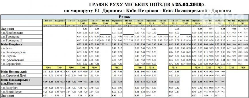 """расписание маршрутов от """"Киевпастранса"""""""