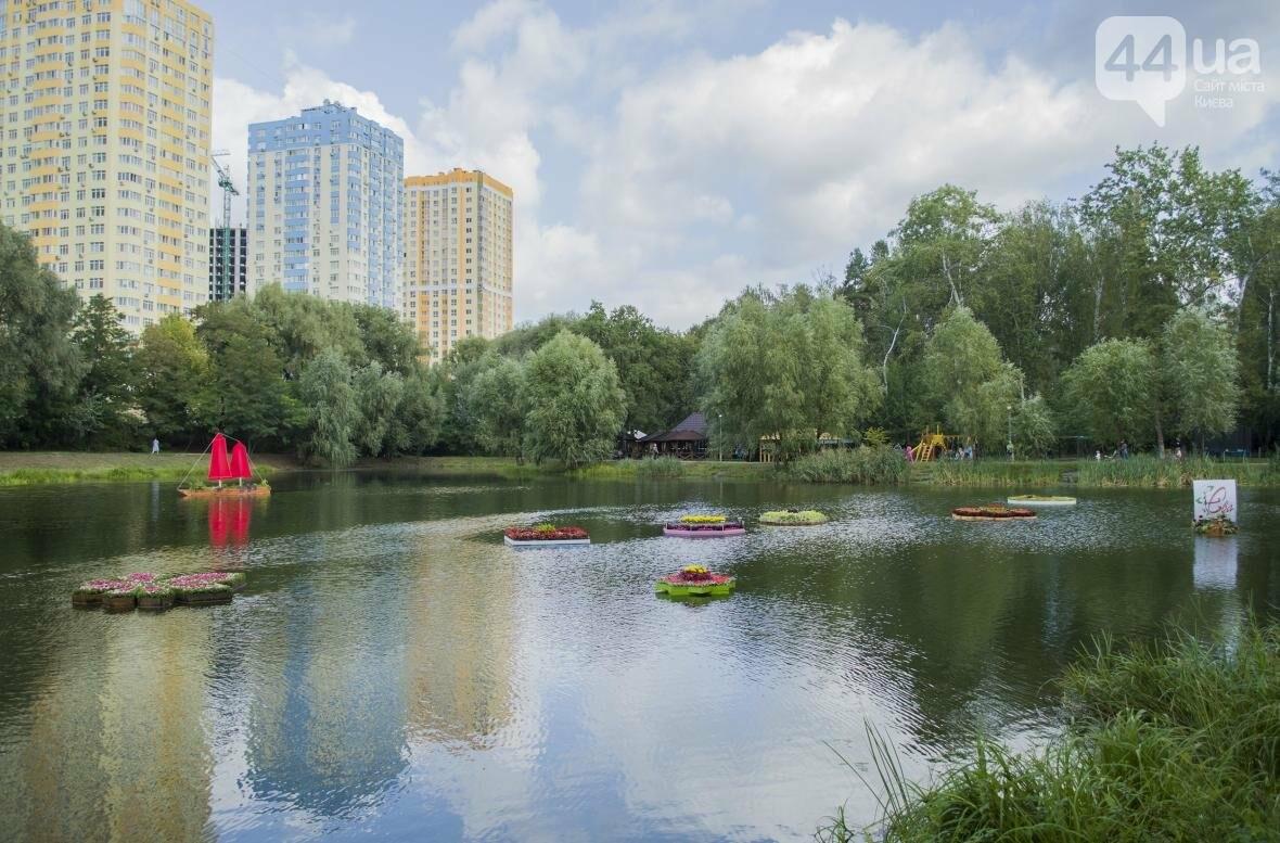 Необычный цветник: в киевском парке появились плавающие клумбы (ФОТОРЕПОРТАЖ), фото-4