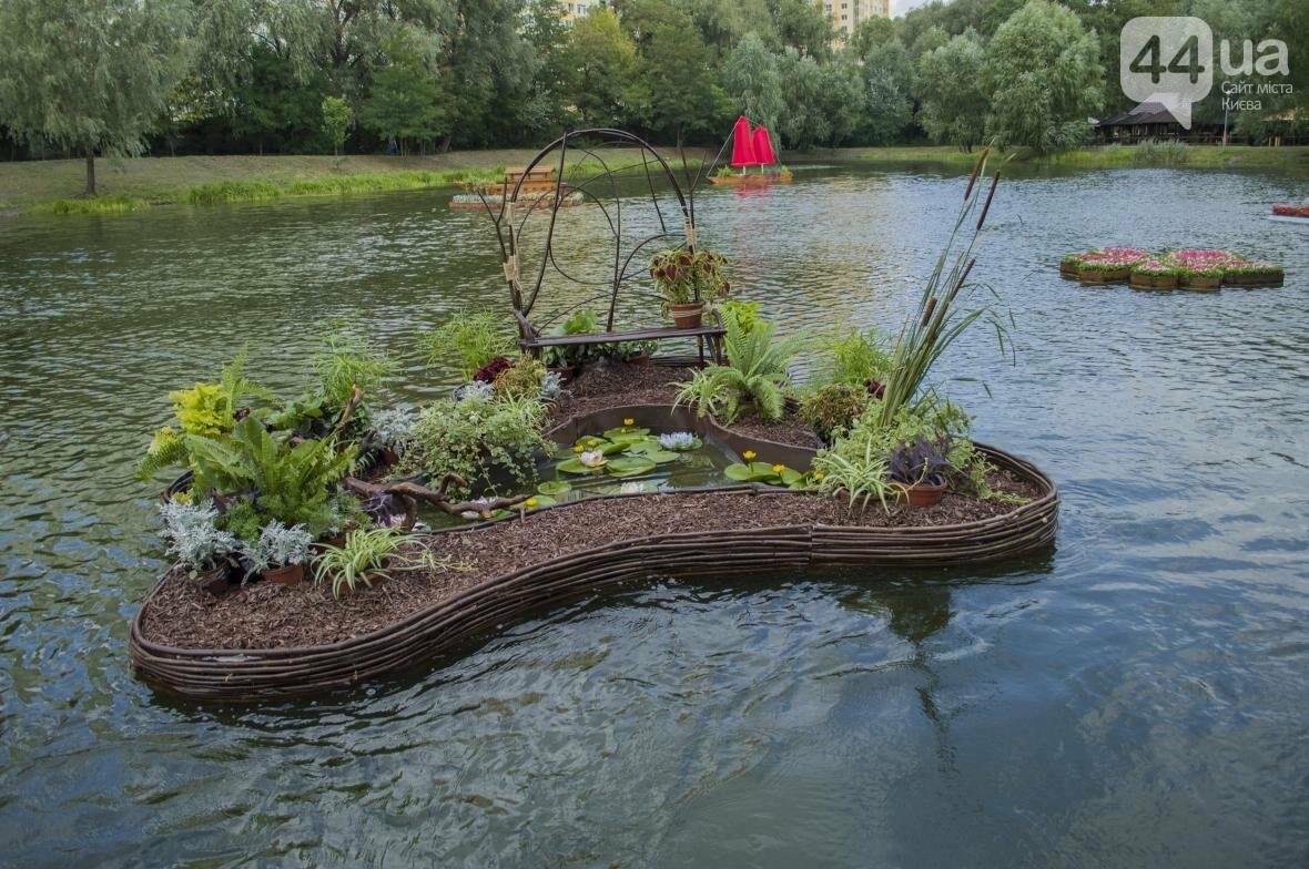 Необычный цветник: в киевском парке появились плавающие клумбы (ФОТОРЕПОРТАЖ), фото-13