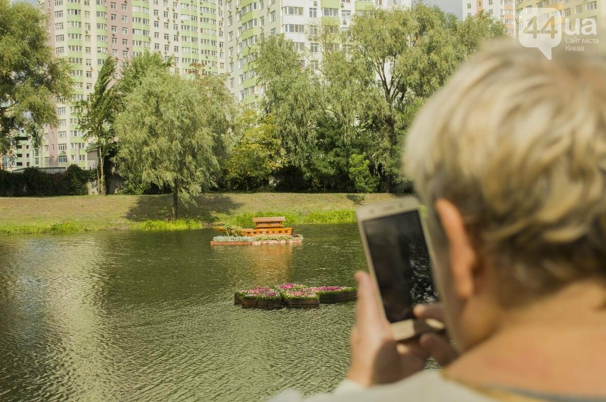 Необычный цветник: в киевском парке появились плавающие клумбы (ФОТОРЕПОРТАЖ), фото-8