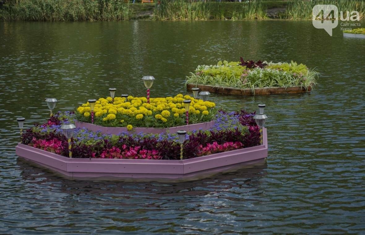 Необычный цветник: в киевском парке появились плавающие клумбы (ФОТОРЕПОРТАЖ), фото-12