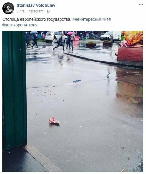 Внезапно: на киевской улице нашли челюсть, фото-1