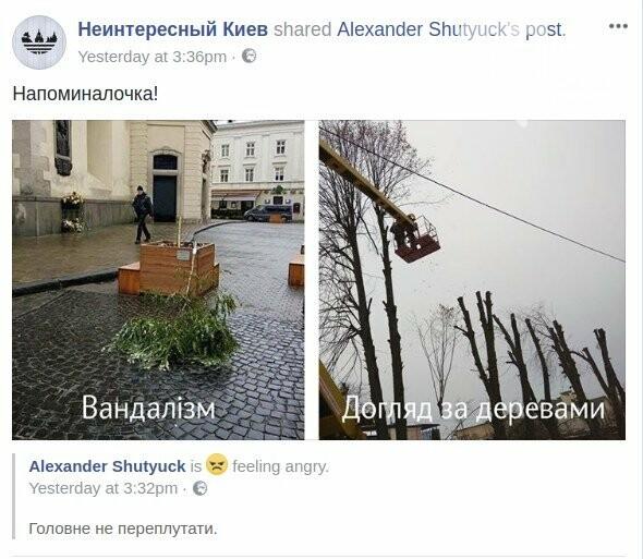 Киевлянин создал таблицу видов уничтожения деревьев, фото-1