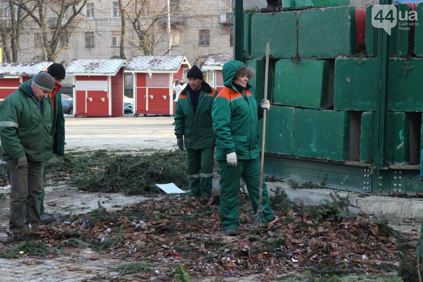 В Киеве утилизировали главную елку страны: как это было, фото-12