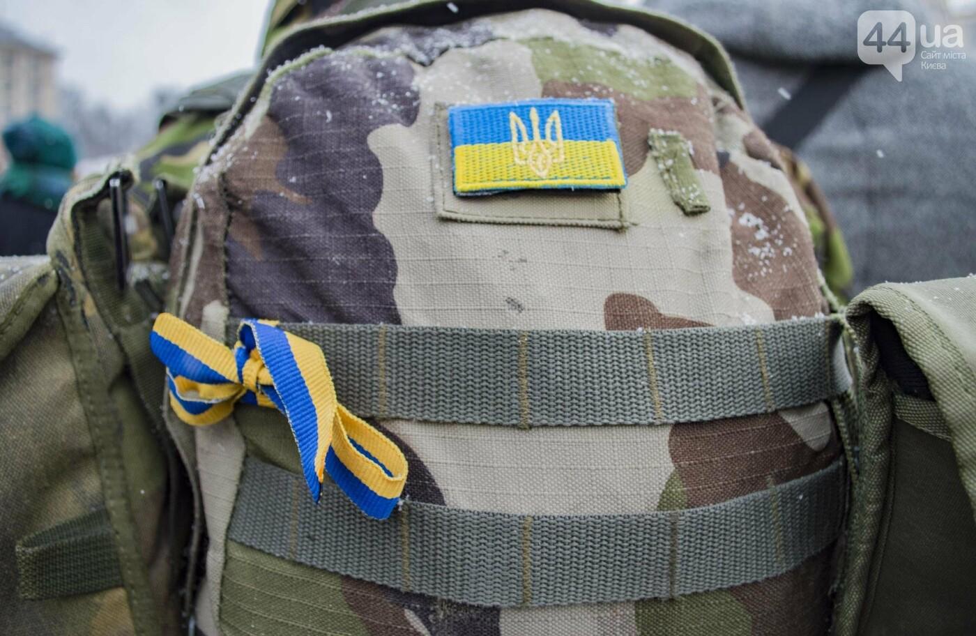 На Крещатике развернули гигантский флаг Украины (ФОТОРЕПОРТАЖ), фото-13