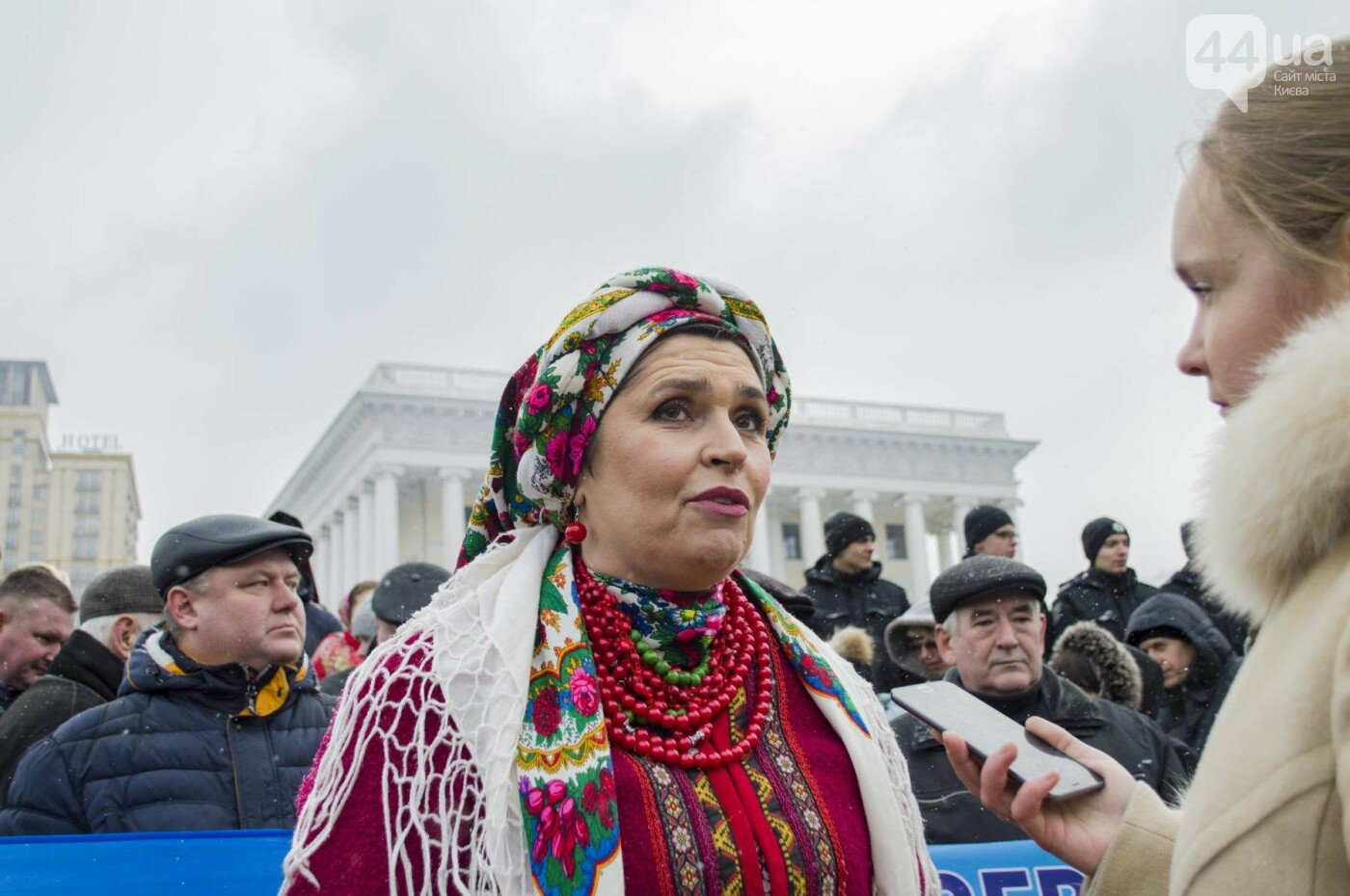На Крещатике развернули гигантский флаг Украины (ФОТОРЕПОРТАЖ), фото-9