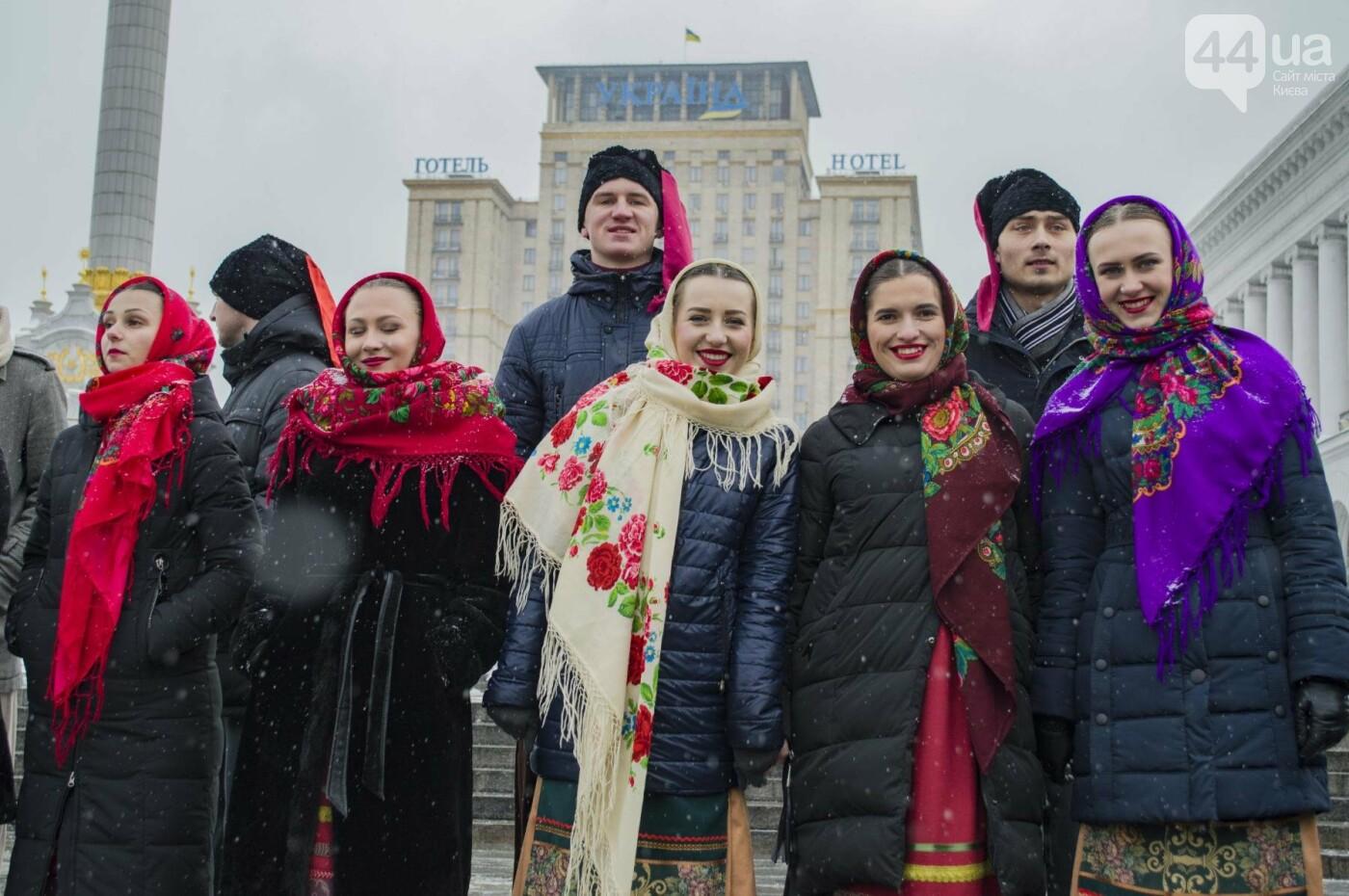 На Крещатике развернули гигантский флаг Украины (ФОТОРЕПОРТАЖ), фото-10