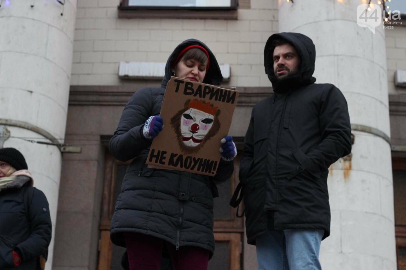 Цирк без животных: как в Киеве прошла акция протеста, фото-11