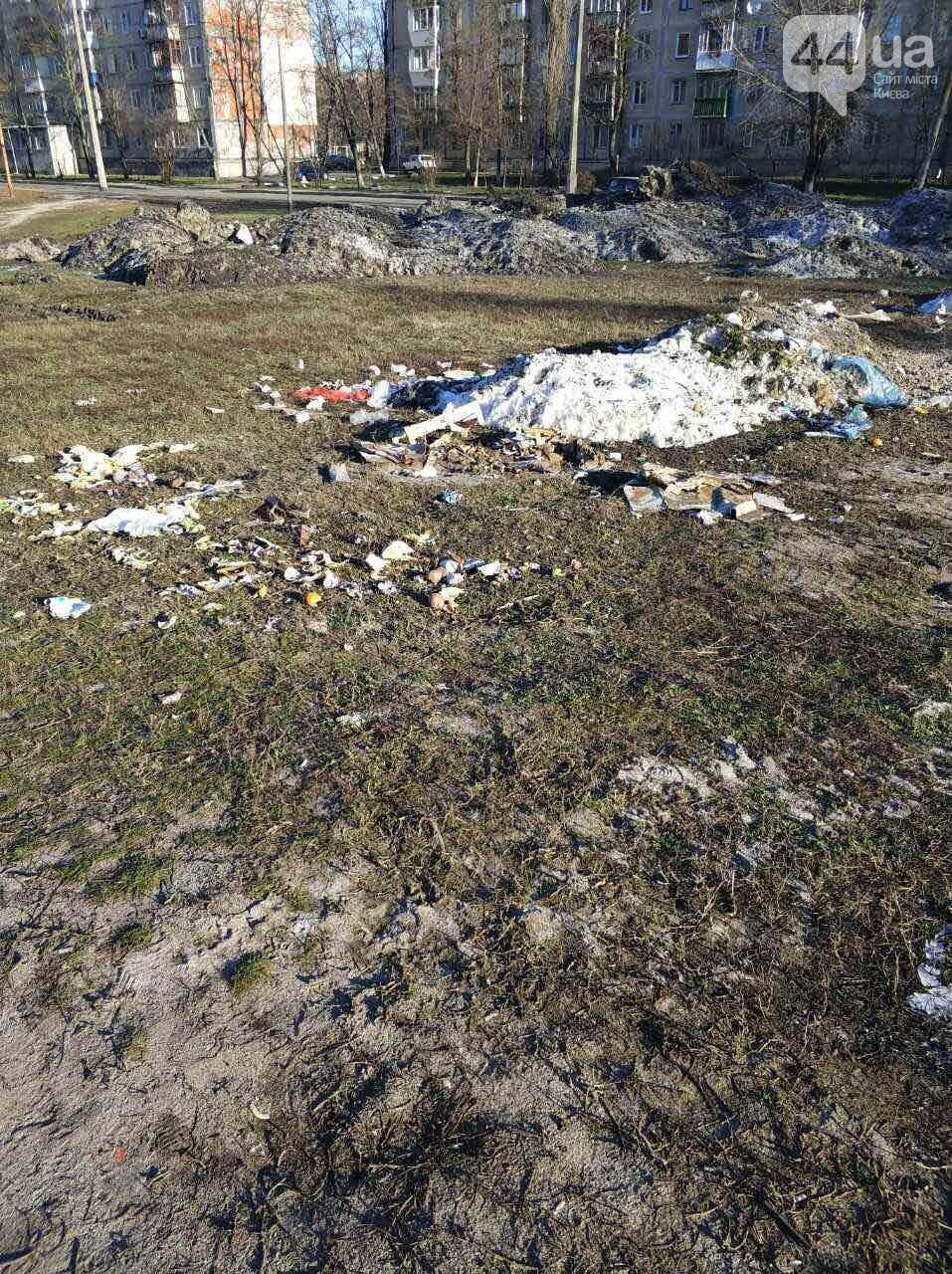 В Киеве под жилой дом скидывают снег с мусором (ФОТОФАКТ) , фото-4
