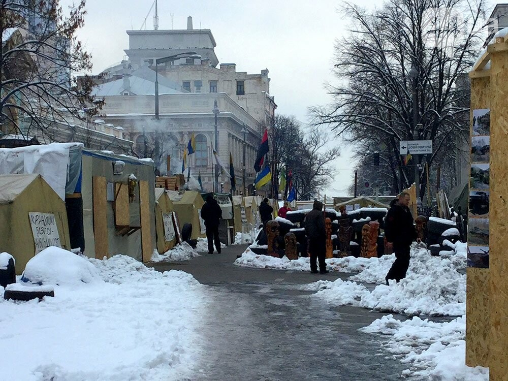 Киев так и не встал. Палаточный городок Саакашвили сегодня был безлюдным (ФОТО), фото-3
