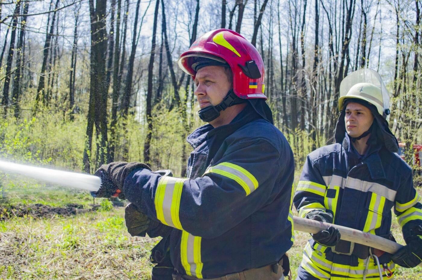 """На окраине Киева """"горел"""" лес: как спасатели боролись с огнем, фото-4"""