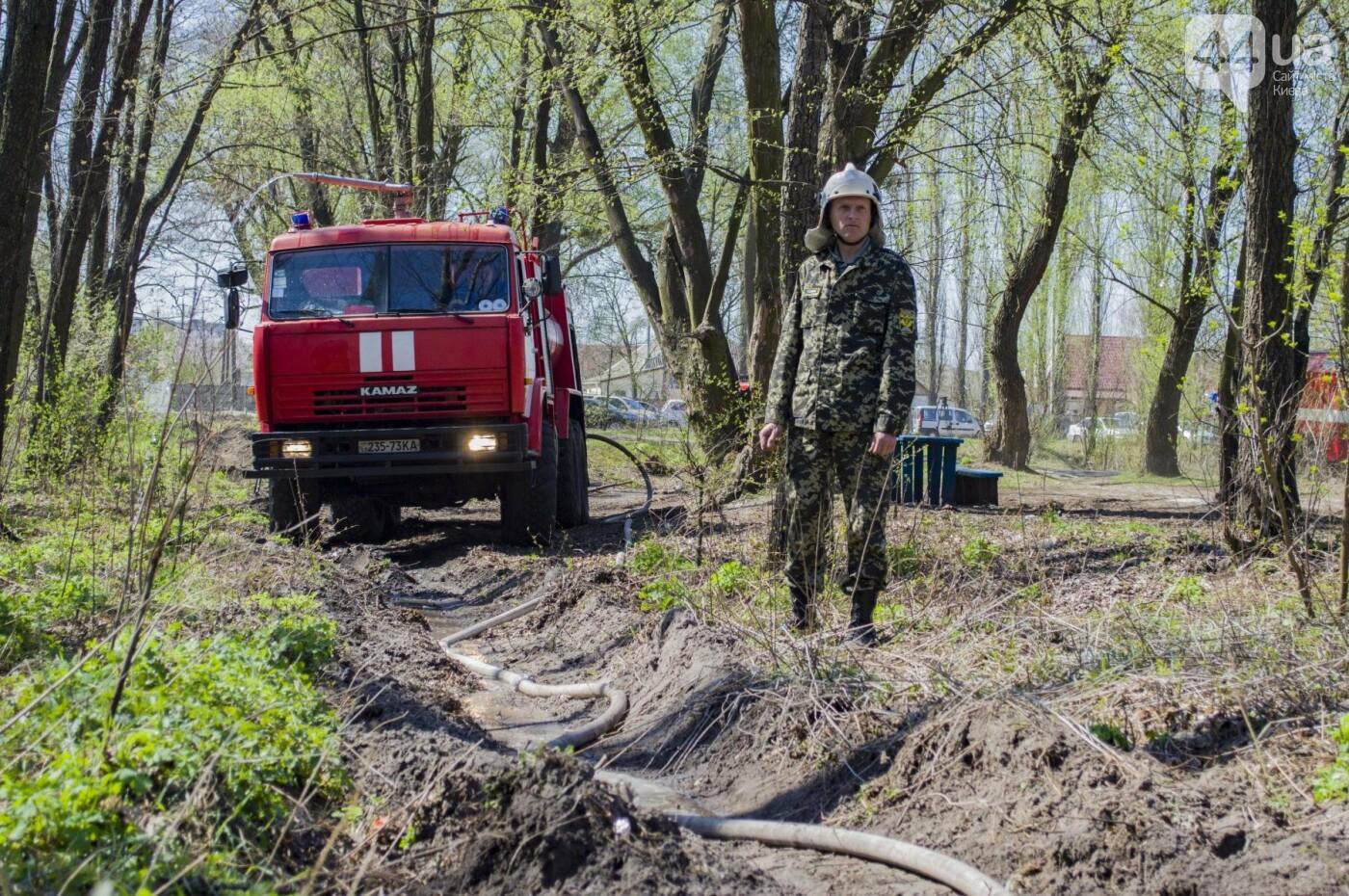 """На окраине Киева """"горел"""" лес: как спасатели боролись с огнем, фото-6"""