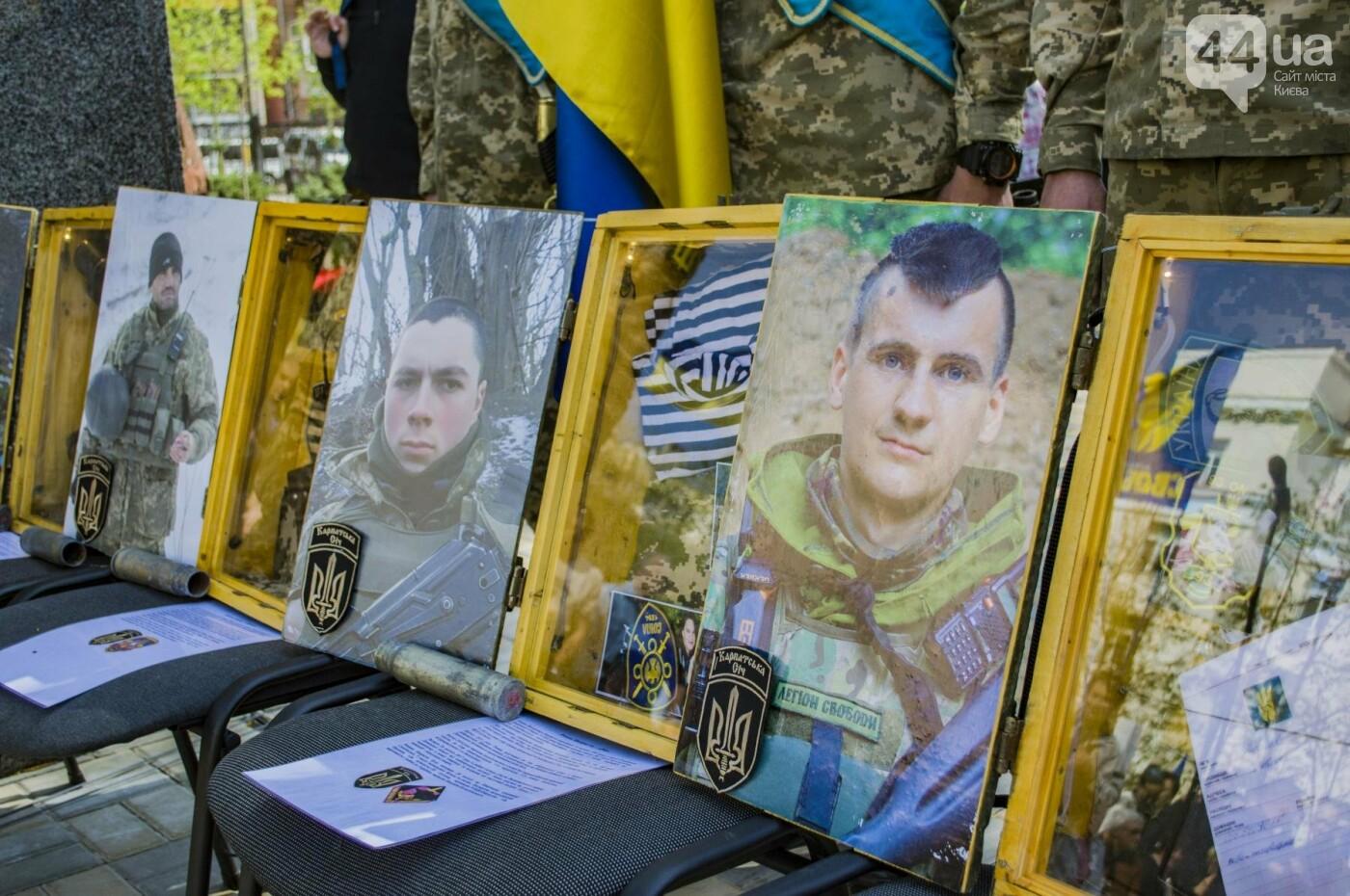 В Киеве открыли памятник погибшему бойцу АТО, фото-5