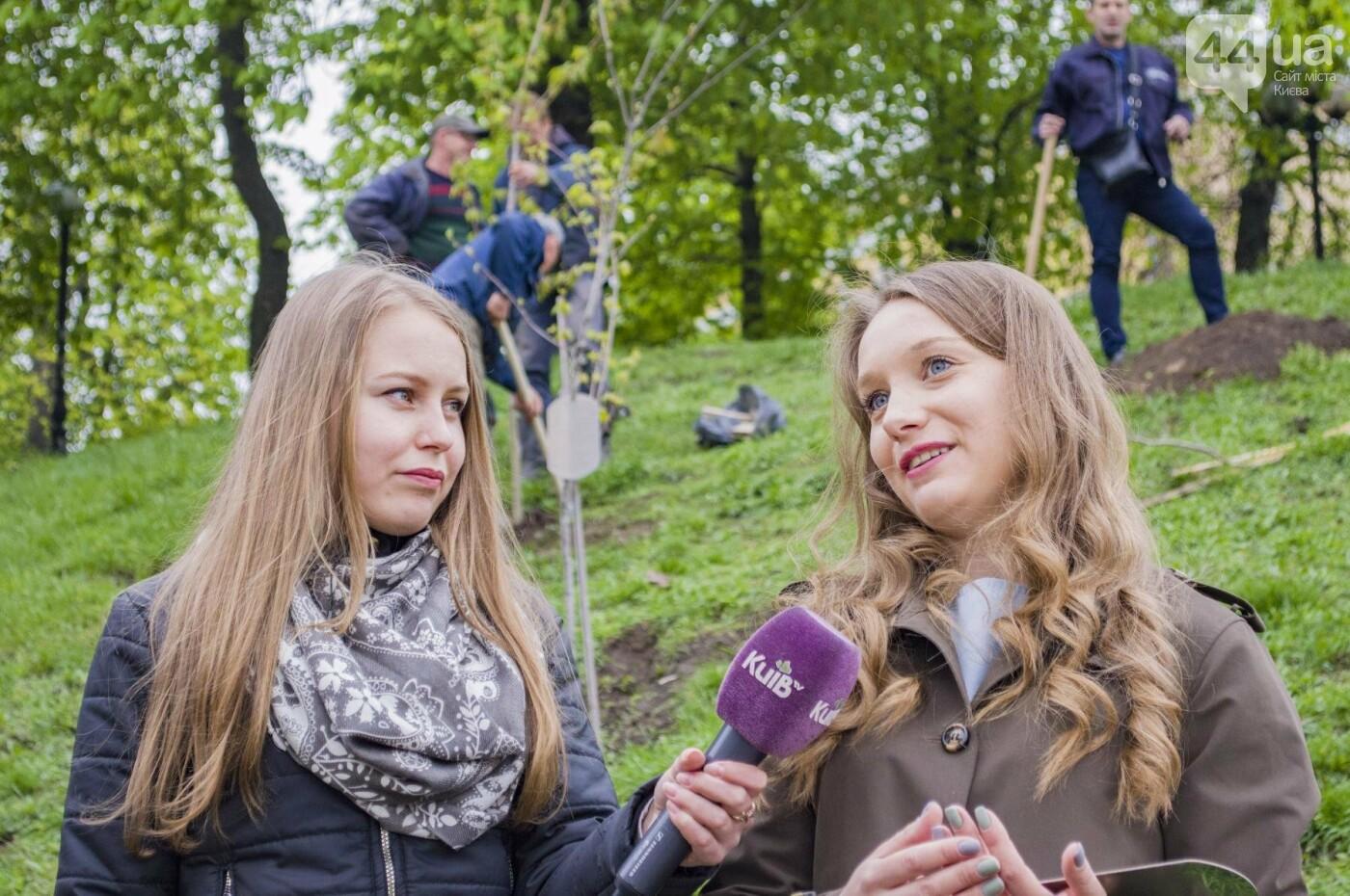 В центре Киева высадили именные деревья в честь украинских бойцов, фото-4