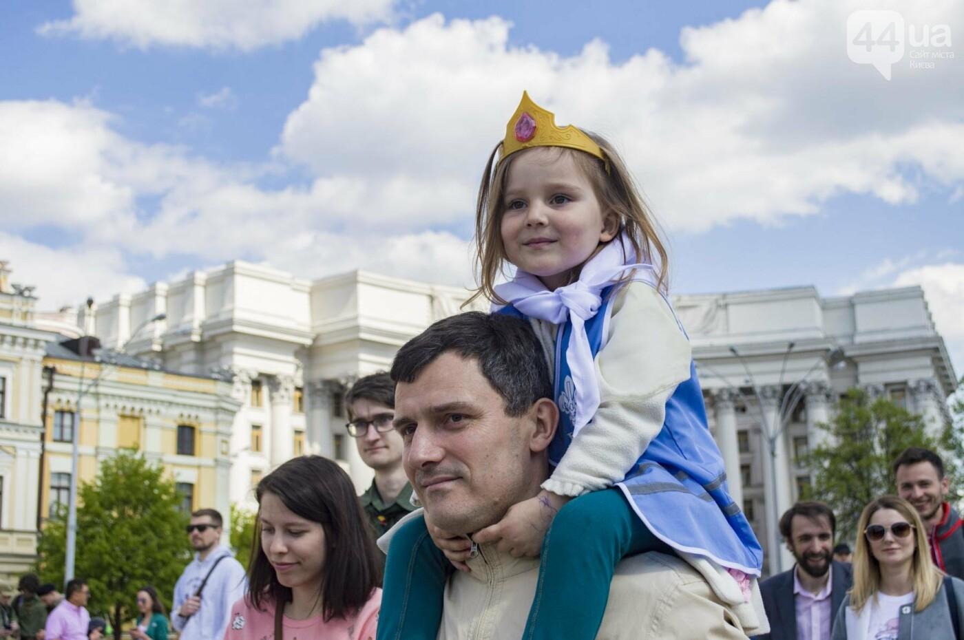 В центре Киева около 500 скаутов принесли свою присягу: как это было, фото-12