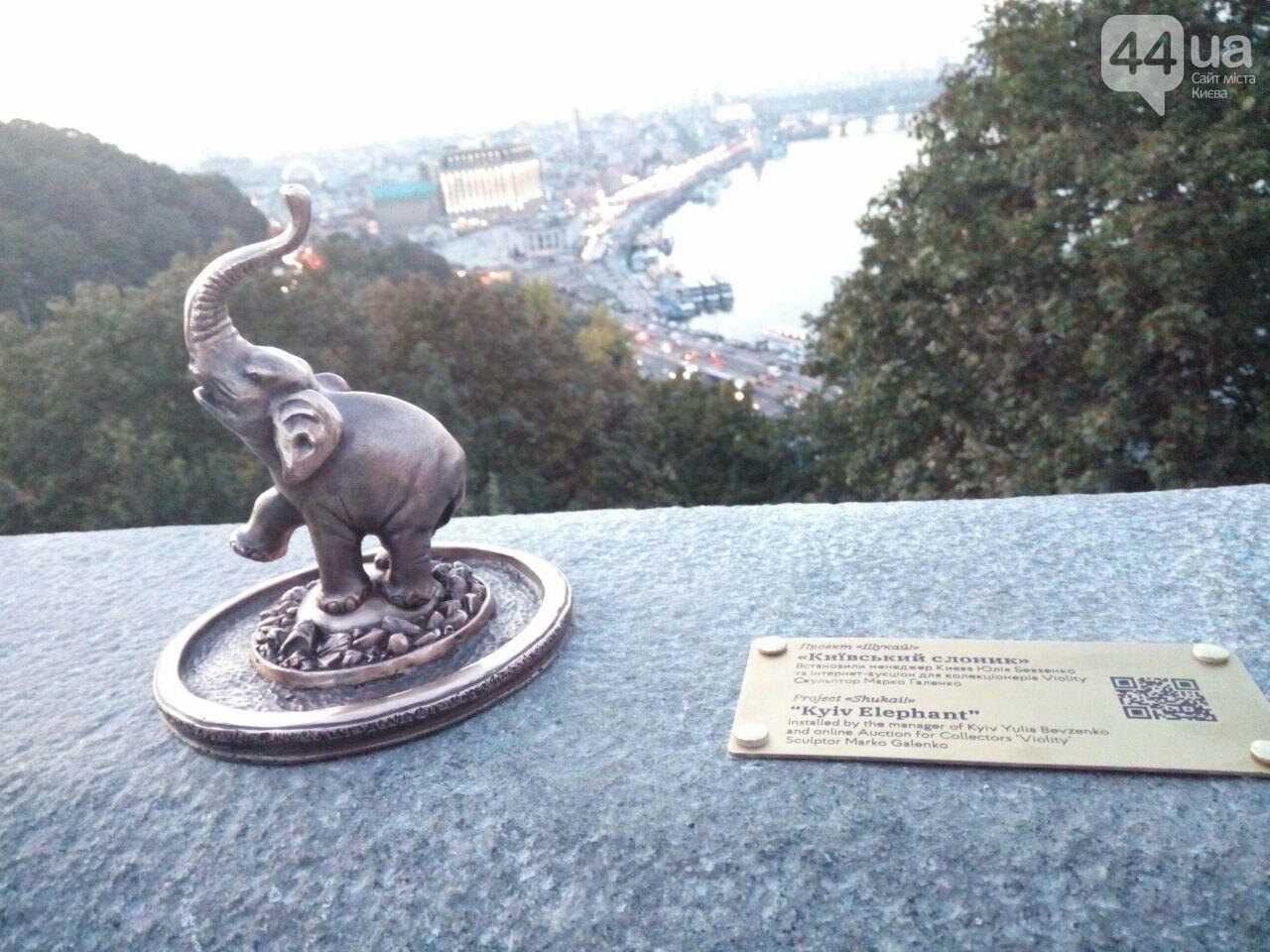 В центре Киева заметили маленького слоника, - ФОТО, фото-4