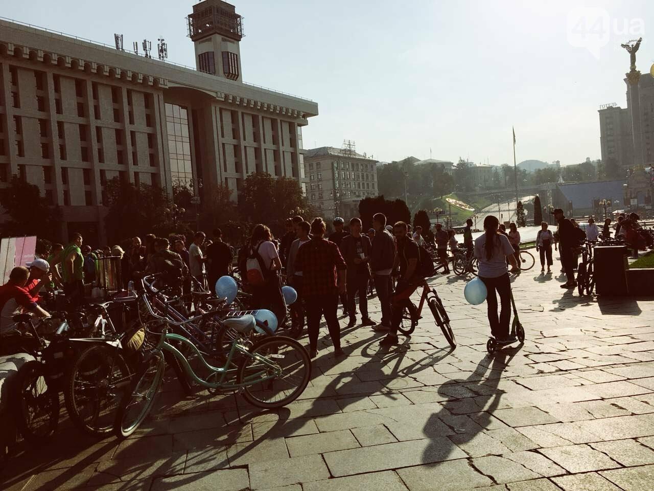 """Офисный лук и велосипед: как в Киеве прошел флешмоб """"Велосипедом на работу"""", фото-13"""