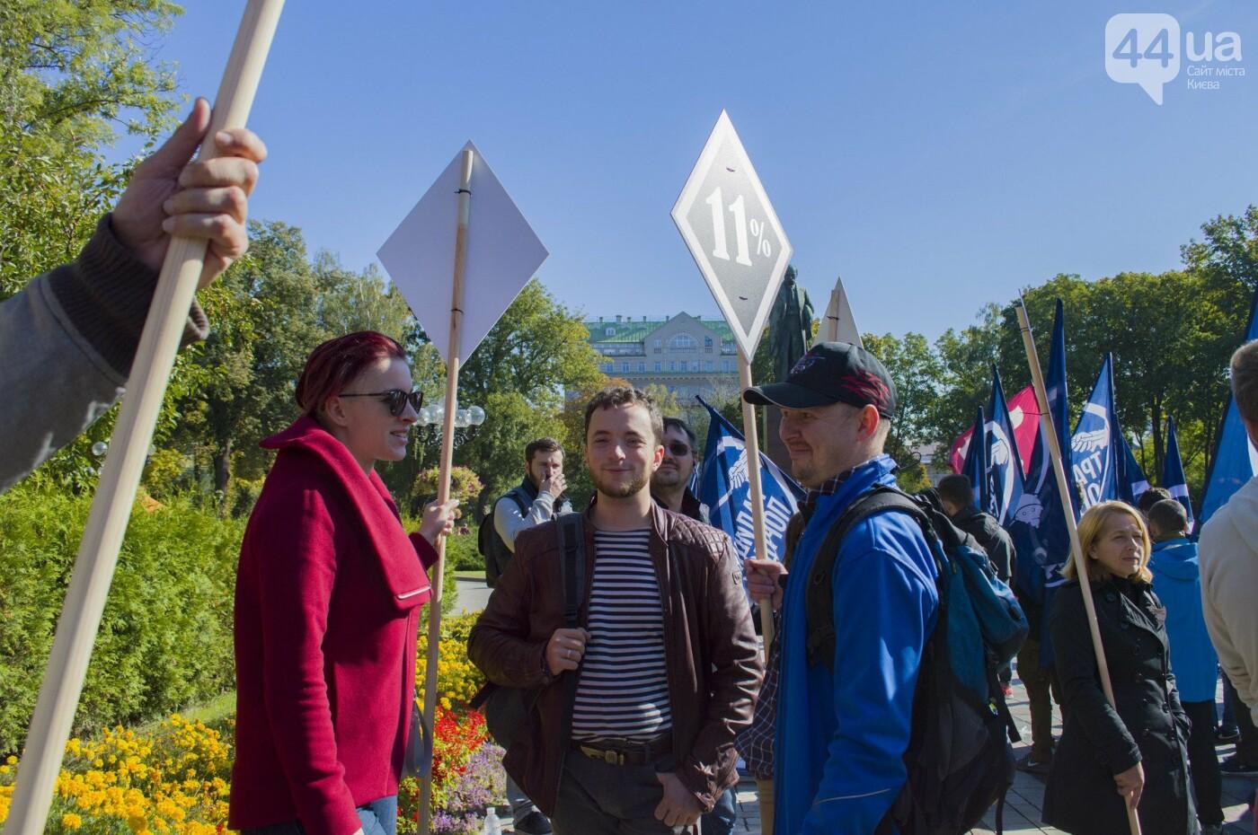 С волынкой, барабанами и черепом: как в Киеве люди митинговали за право на самооборону, фото-1