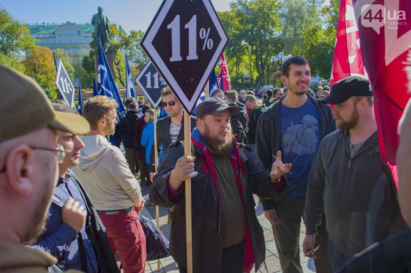 С волынкой, барабанами и черепом: как в Киеве люди митинговали за право на самооборону, фото-2