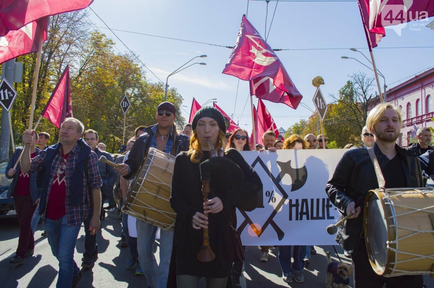 С волынкой, барабанами и черепом: как в Киеве люди митинговали за право на самооборону, фото-7