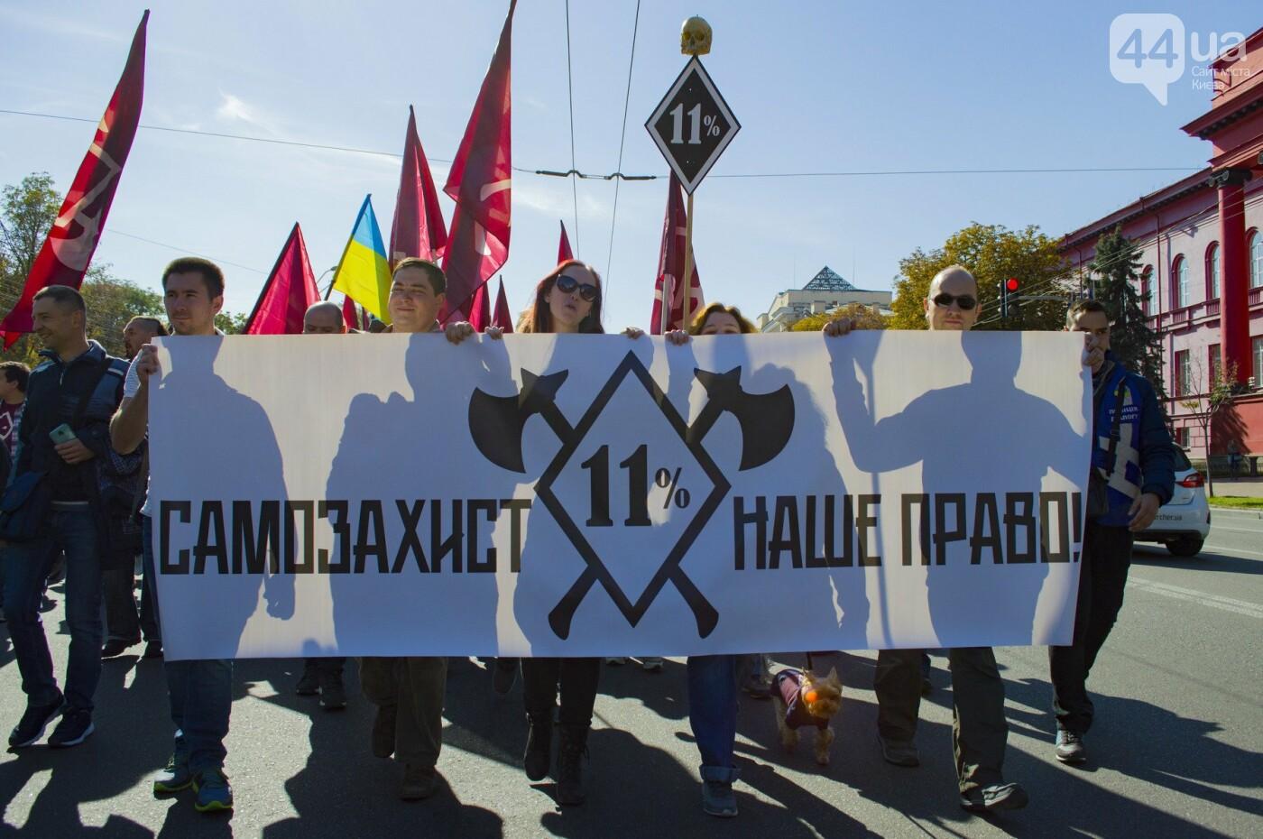 С волынкой, барабанами и черепом: как в Киеве люди митинговали за право на самооборону, фото-8