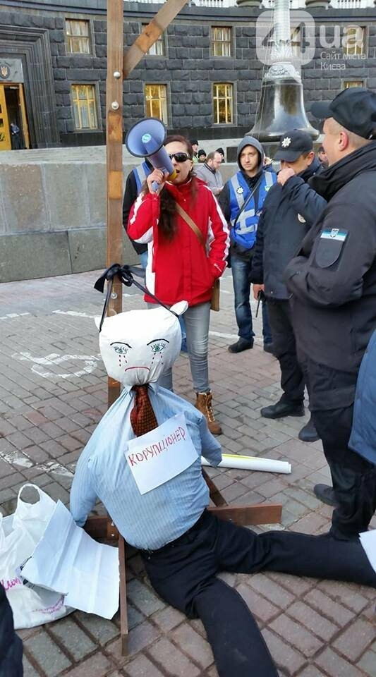 «Взяли в кольцо»: в Киеве участников акции против незаконных застроек не пустили к Кабмину, - ФОТО, ВИДЕО, фото-6