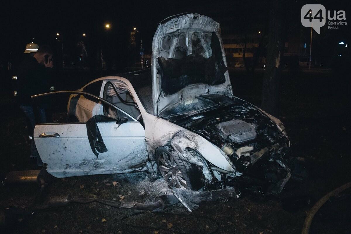 Honda c четырьмя людьми перевернулась, столкнулась с деревьями и загорелась, - ФОТО, ВИДЕО, фото-1
