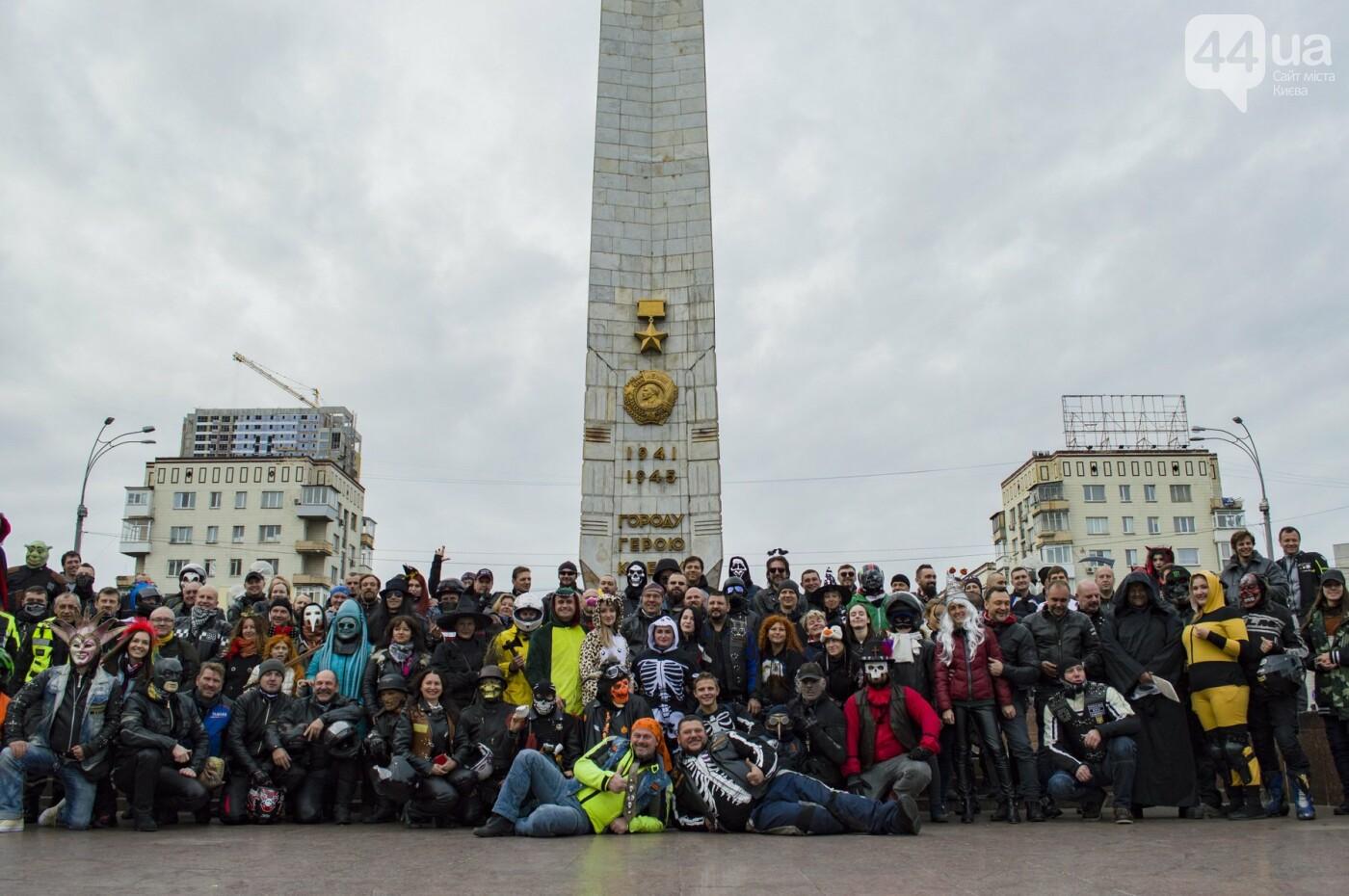 """От Бэтмена до ведьм: как """"нечисть"""" разъезжала на мотоциклах по центру Киева, фото-13"""