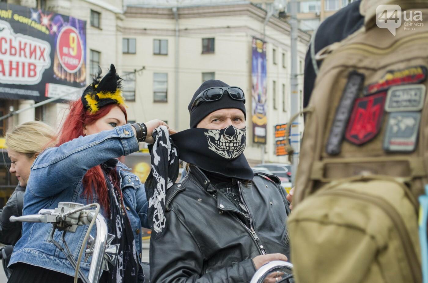 """От Бэтмена до ведьм: как """"нечисть"""" разъезжала на мотоциклах по центру Киева, фото-3"""