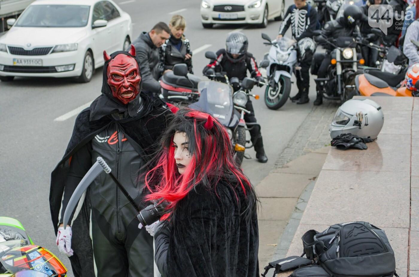 """От Бэтмена до ведьм: как """"нечисть"""" разъезжала на мотоциклах по центру Киева, фото-11"""