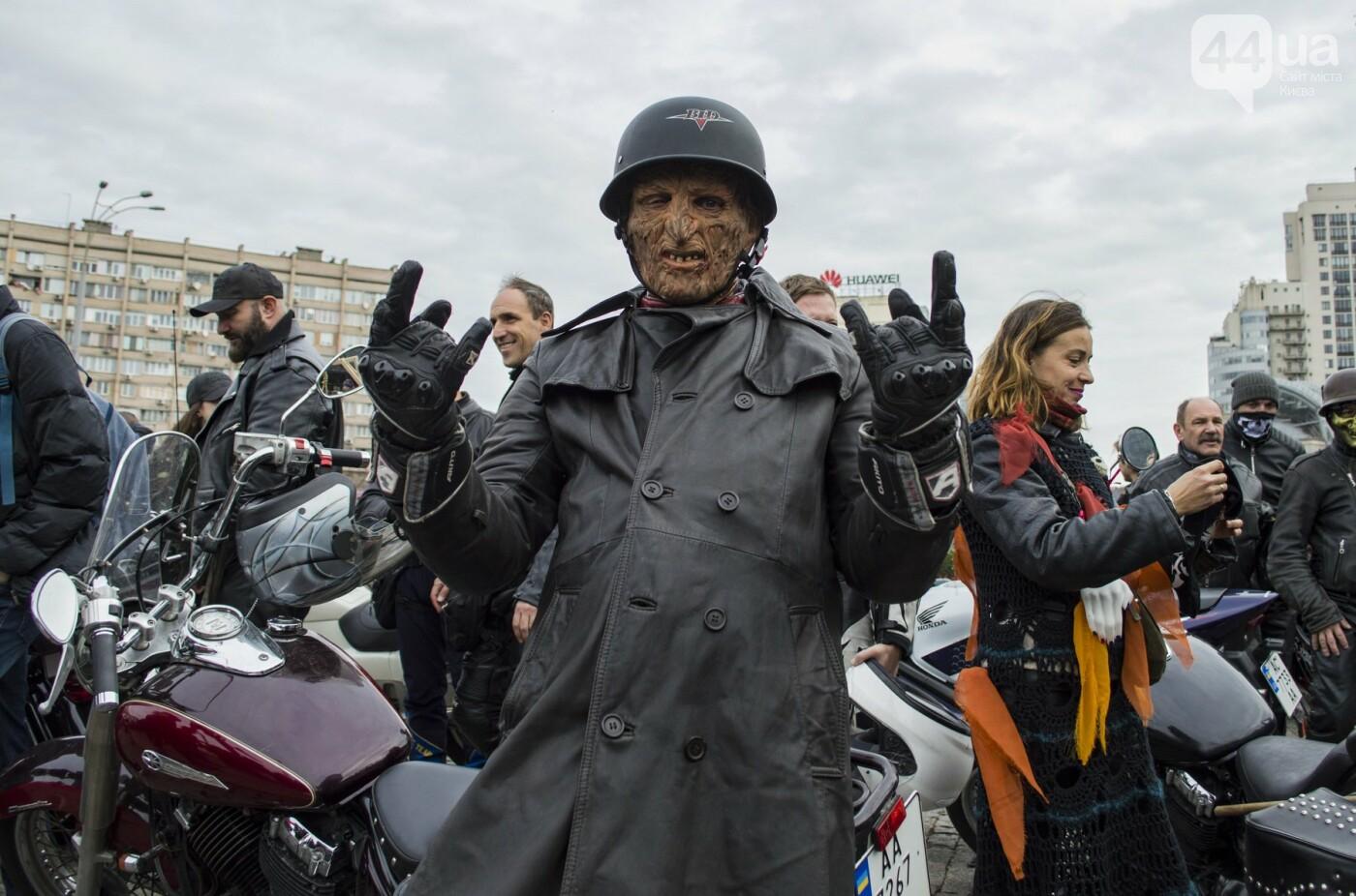 """От Бэтмена до ведьм: как """"нечисть"""" разъезжала на мотоциклах по центру Киева, фото-1"""