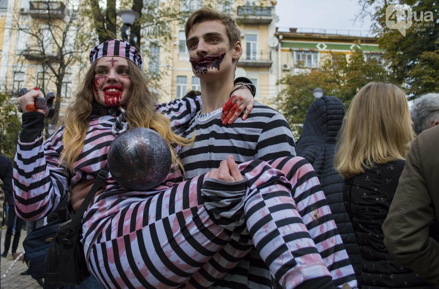 В центре Киева прошел зомби-парад: как это было, фото-18