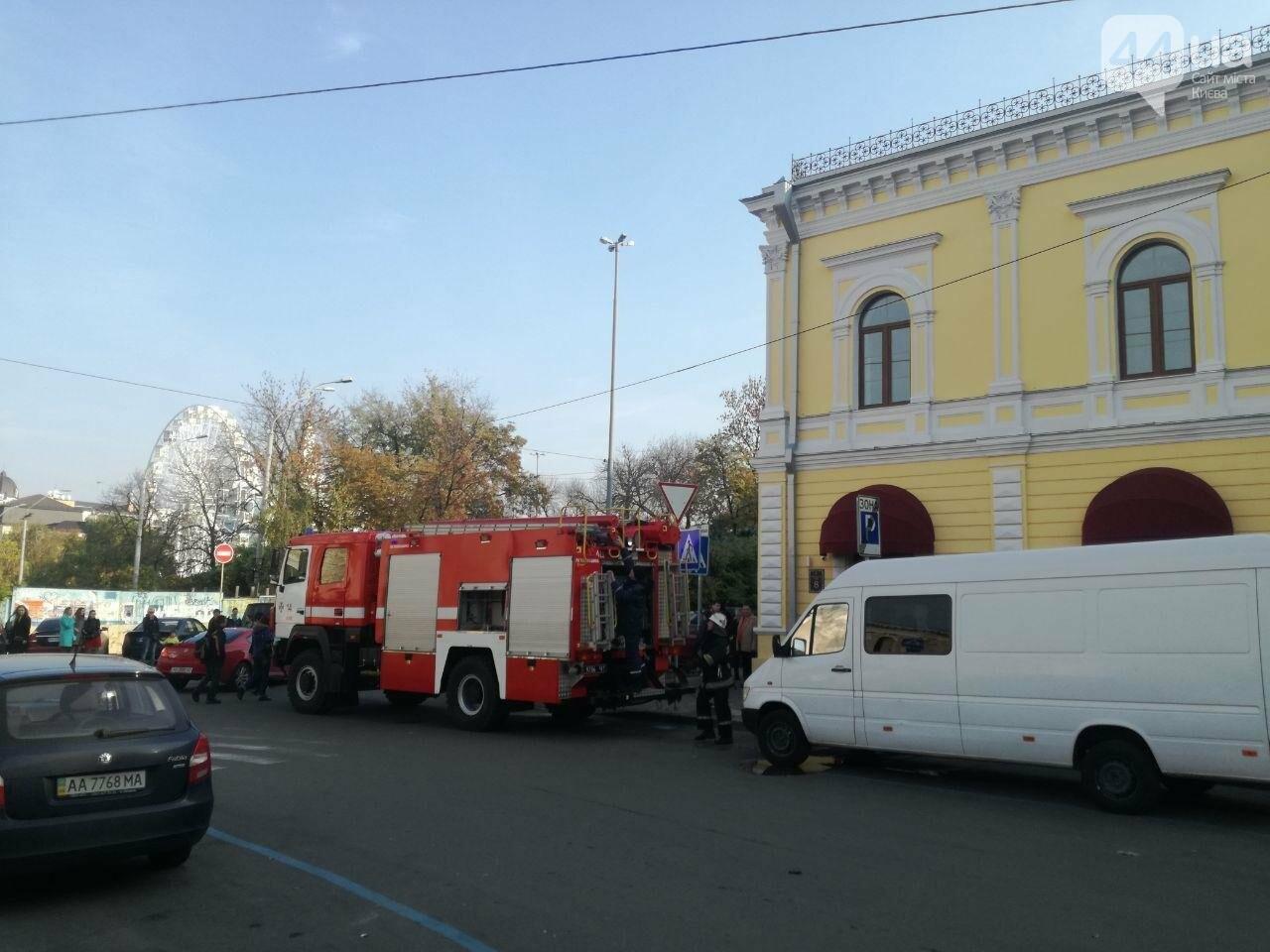 На Контрактовой площади произошел пожар, - ФОТО, ВИДЕО, фото-1