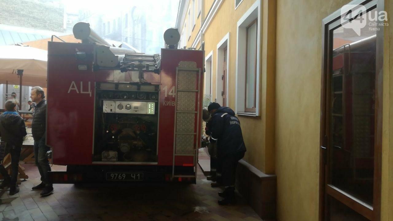 На Контрактовой площади произошел пожар, - ФОТО, ВИДЕО, фото-3