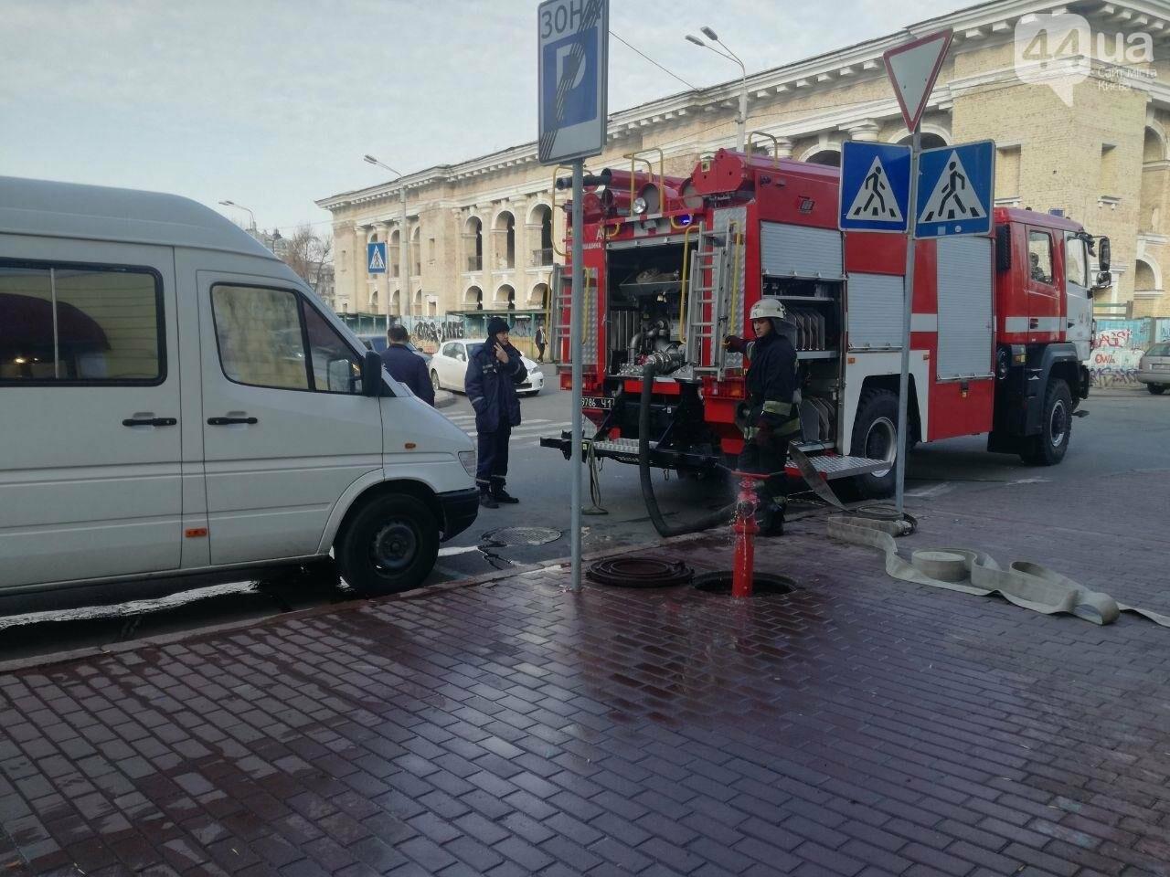 На Контрактовой площади произошел пожар, - ФОТО, ВИДЕО, фото-10
