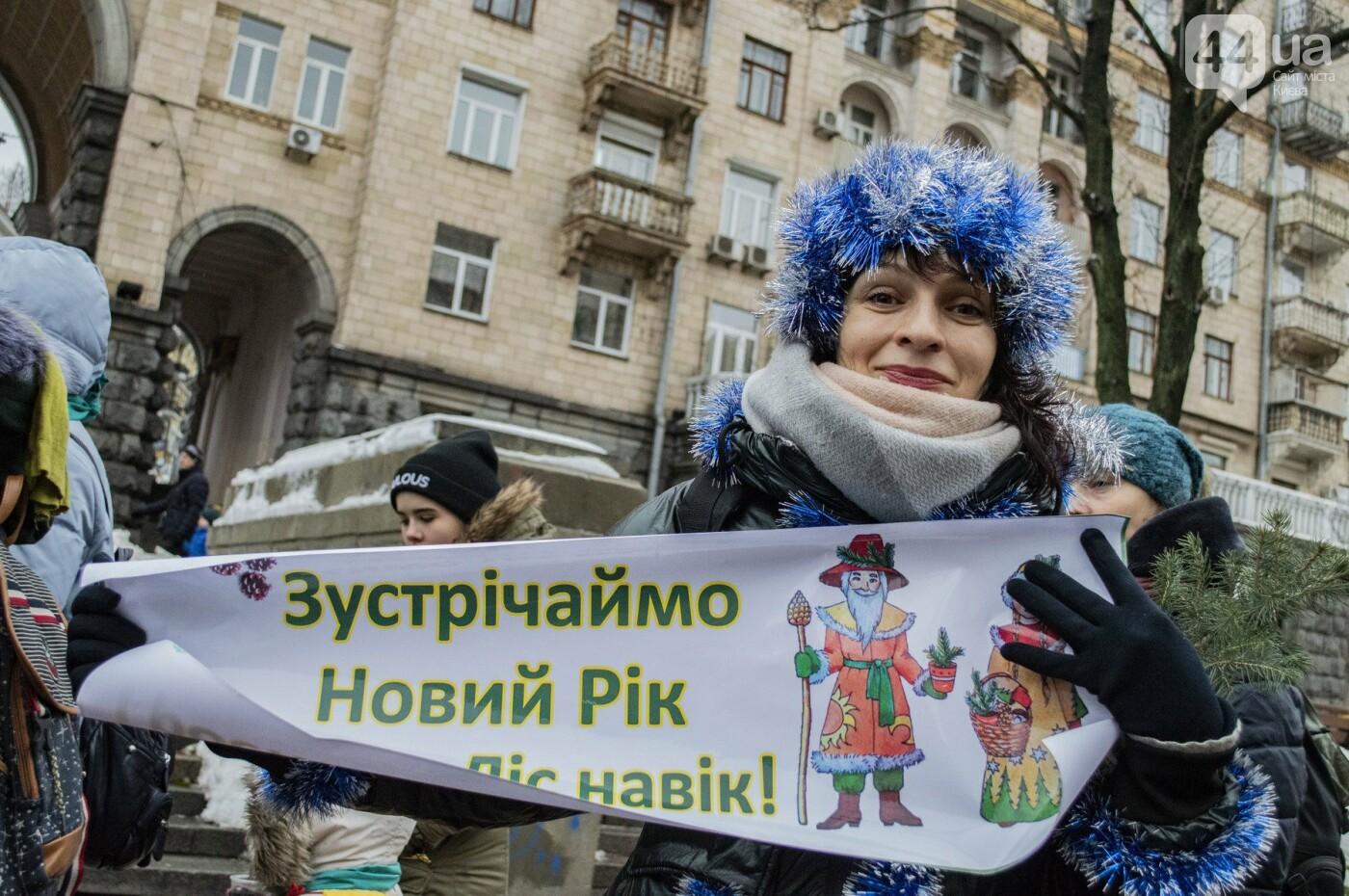 По Киеву прошли зеленые Деды Морозы и Снегурочки, - ФОТОРЕПОРТАЖ, фото-10
