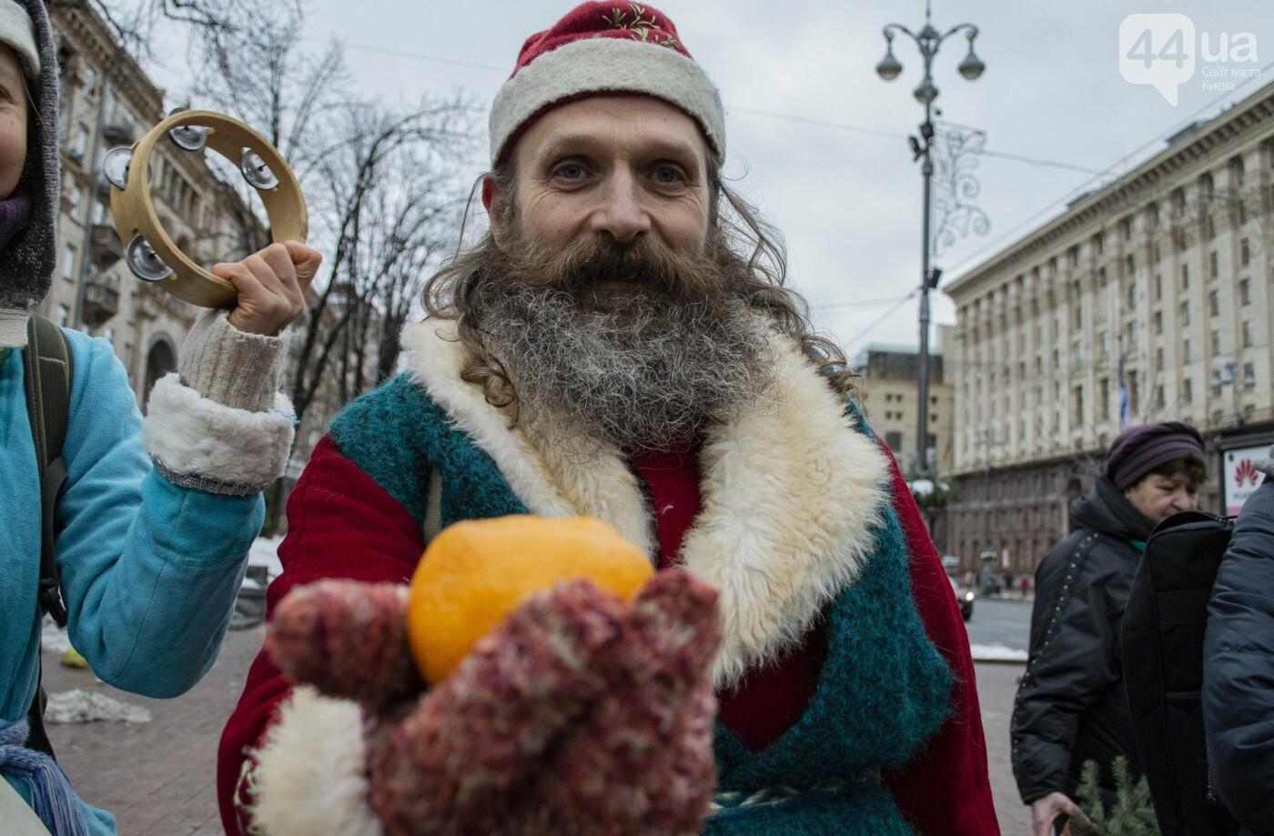 По Киеву прошли зеленые Деды Морозы и Снегурочки, - ФОТОРЕПОРТАЖ, фото-12
