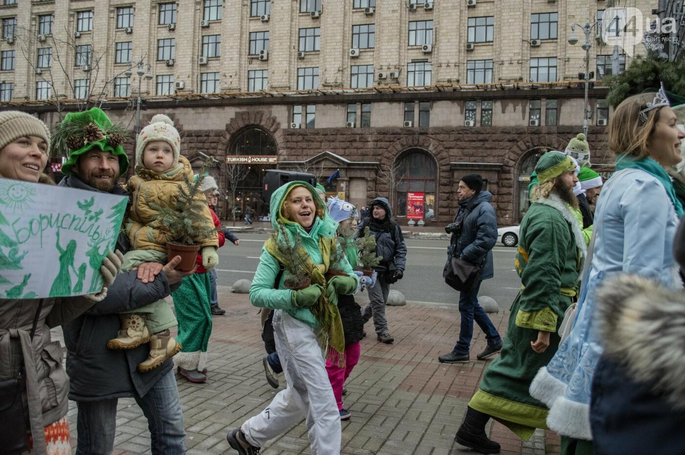 По Киеву прошли зеленые Деды Морозы и Снегурочки, - ФОТОРЕПОРТАЖ, фото-14