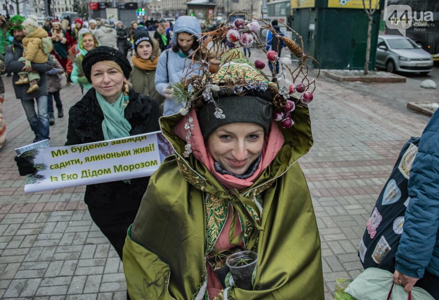 По Киеву прошли зеленые Деды Морозы и Снегурочки, - ФОТОРЕПОРТАЖ, фото-20
