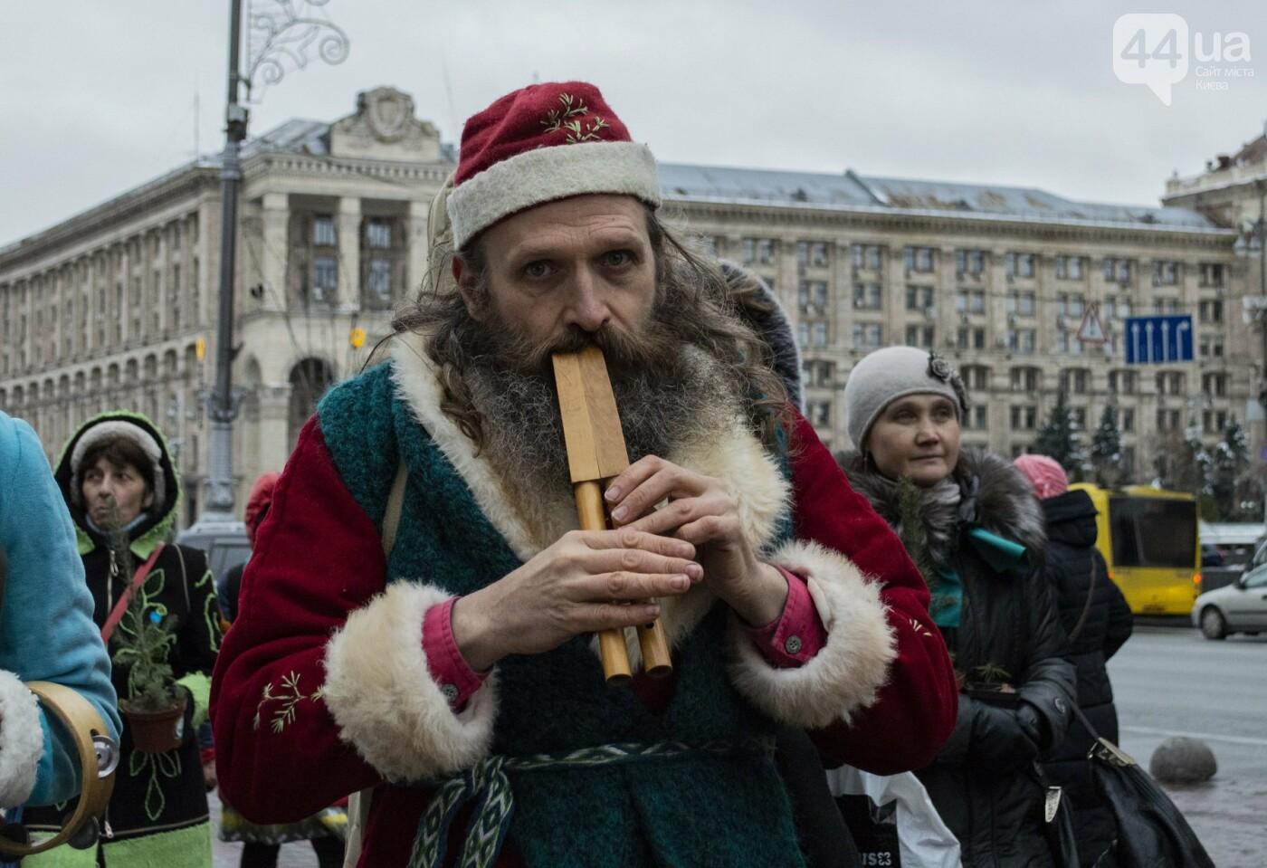 По Киеву прошли зеленые Деды Морозы и Снегурочки, - ФОТОРЕПОРТАЖ, фото-18