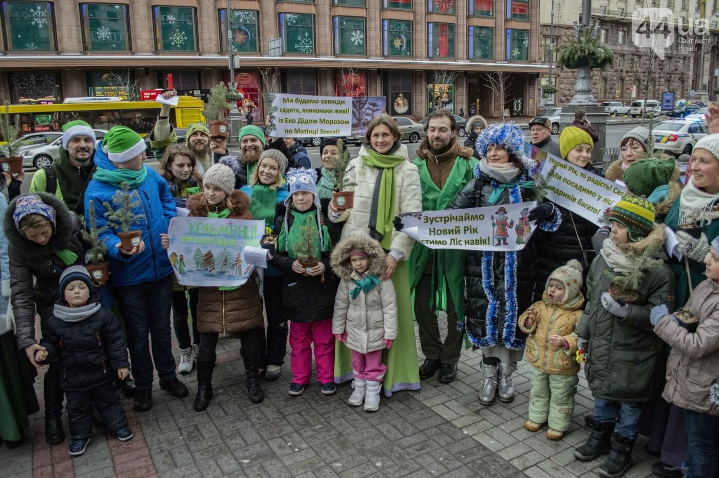 По Киеву прошли зеленые Деды Морозы и Снегурочки, - ФОТОРЕПОРТАЖ, фото-1