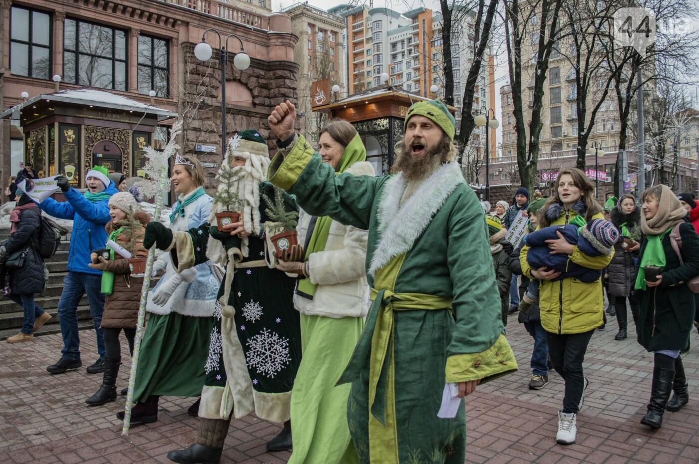 По Киеву прошли зеленые Деды Морозы и Снегурочки, - ФОТОРЕПОРТАЖ, фото-5