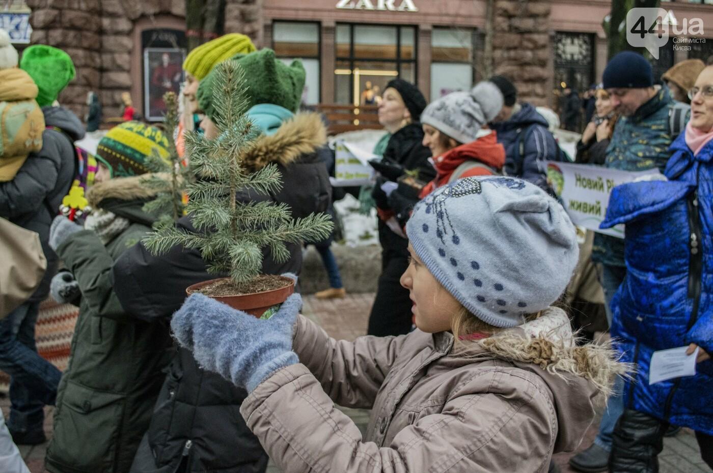 По Киеву прошли зеленые Деды Морозы и Снегурочки, - ФОТОРЕПОРТАЖ, фото-7