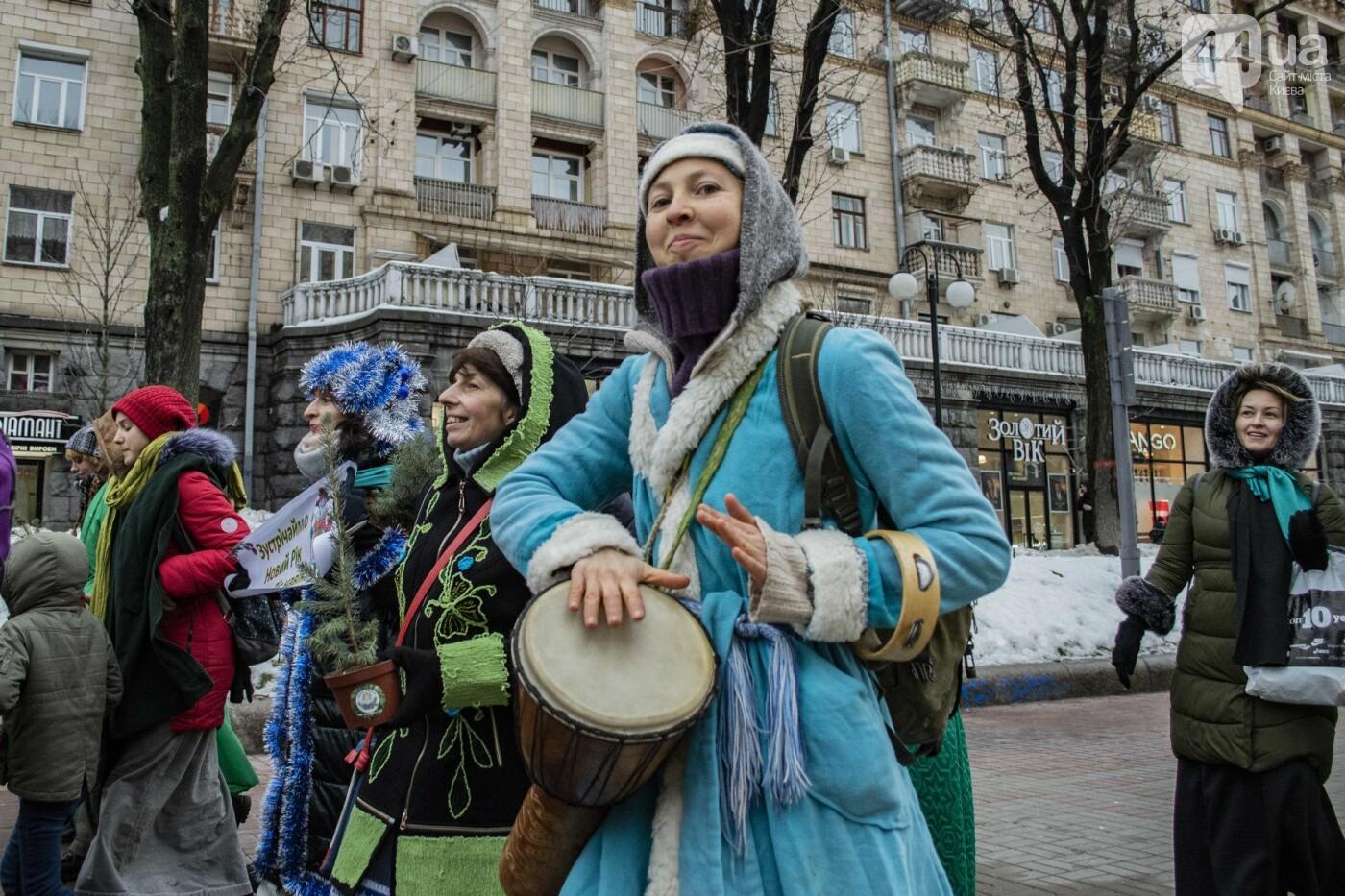 По Киеву прошли зеленые Деды Морозы и Снегурочки, - ФОТОРЕПОРТАЖ, фото-8