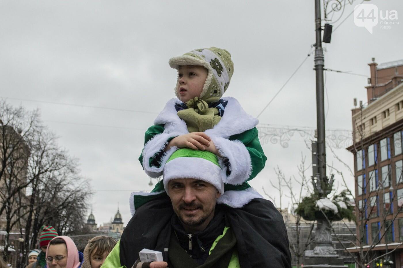По Киеву прошли зеленые Деды Морозы и Снегурочки, - ФОТОРЕПОРТАЖ, фото-9