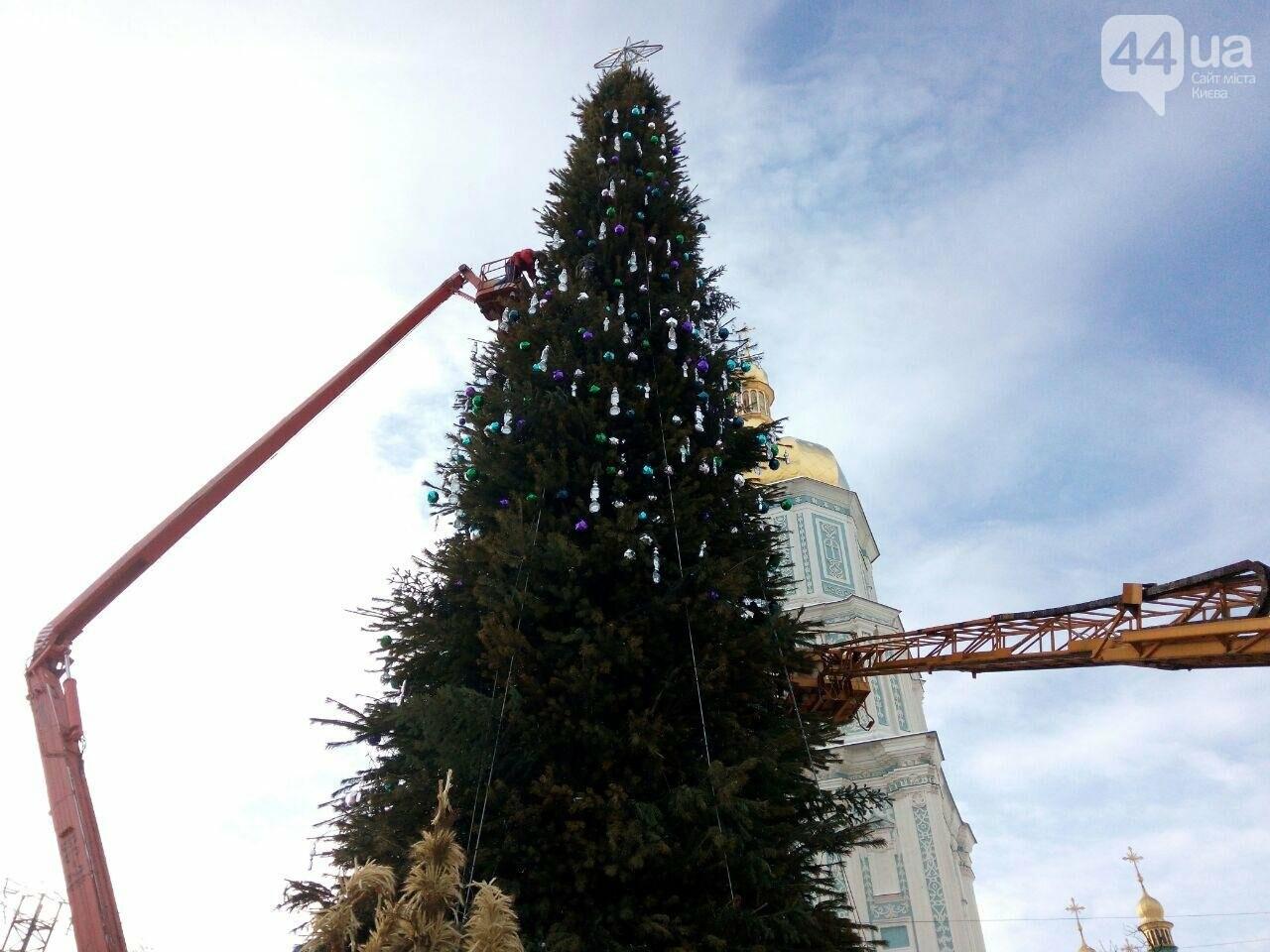 На Софийской площади начали разбирать главную елку страны, - ФОТО, фото-3