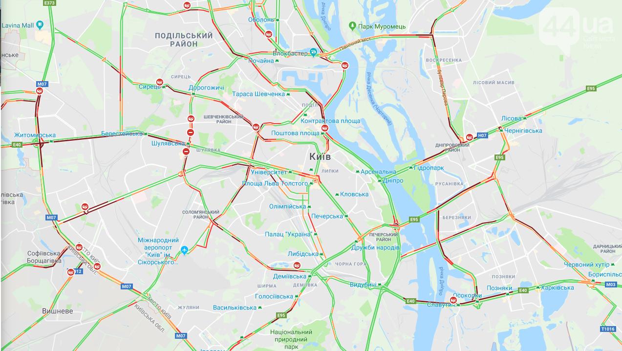 Ситуация на дорогах Киева: где образовались серьезные пробки в столице , фото-1