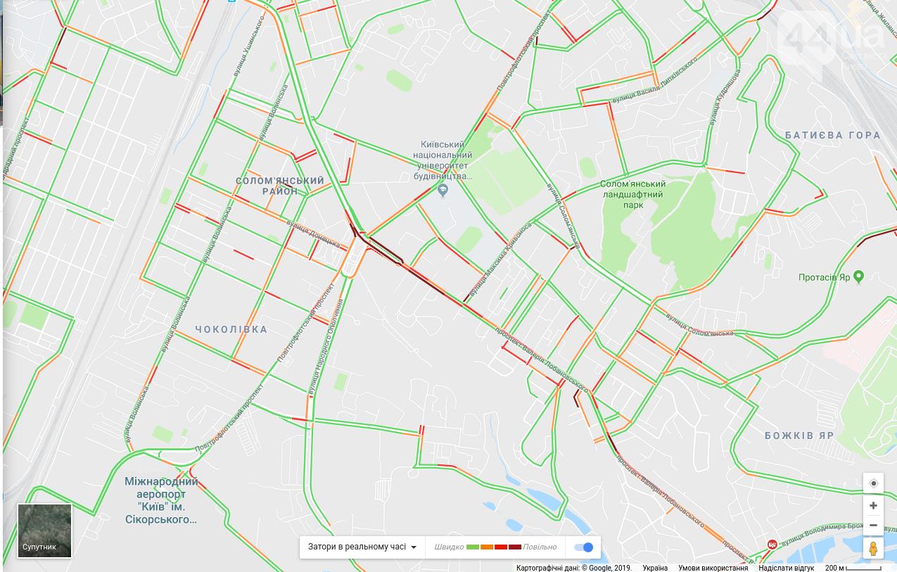 """Ситуация на дорогах Киева: какие улицы """"остановились"""" в пробках , фото-3"""