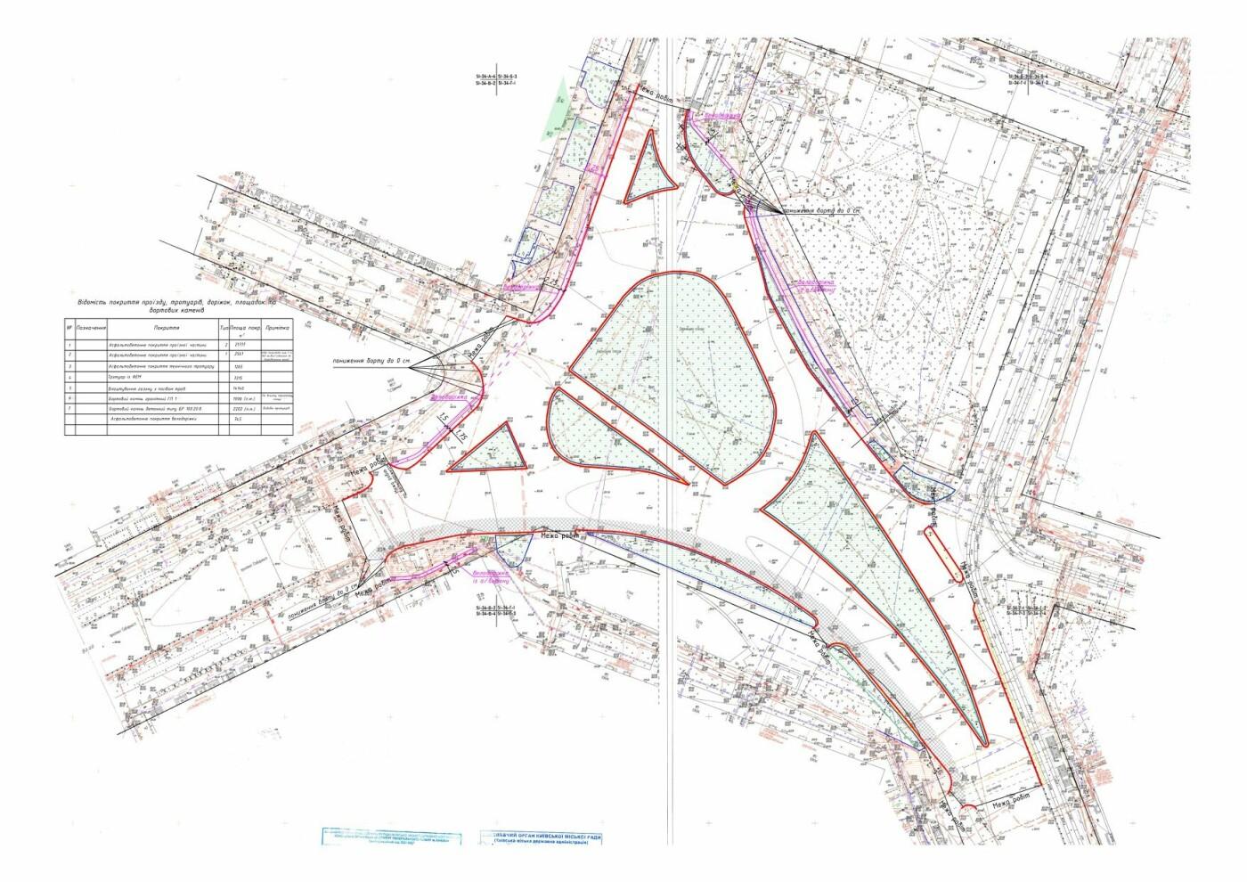 Схема ремонта Дарницкой площади