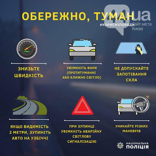 На дорогах Киева - опасно: как долго продержится туман, фото-1